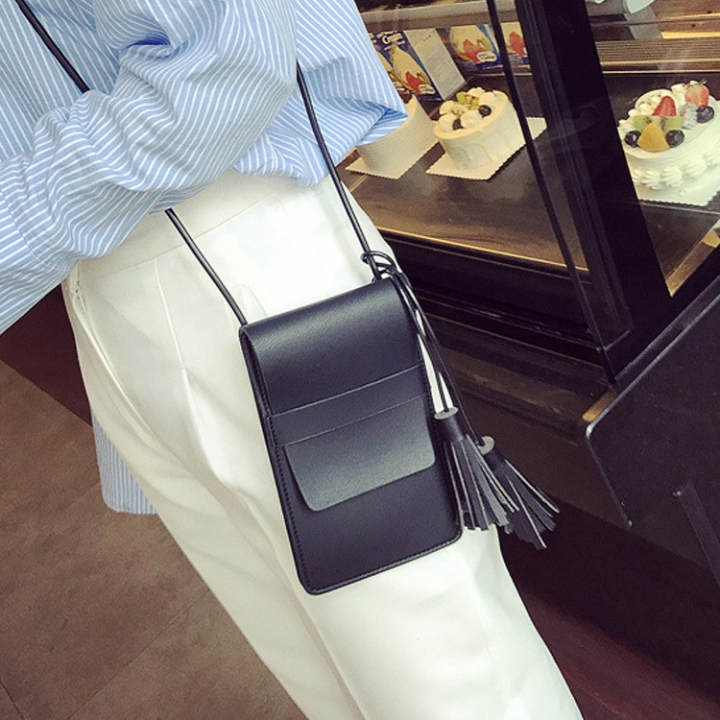 The New Lady Bags Small Fresh Simple High Capacity Leisure Fashion Ms Shoulder Oblique Cross Package black one size