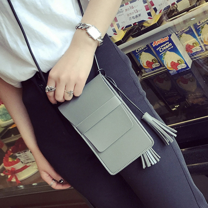 The New Lady Bags Small Fresh Simple High Capacity Leisure Fashion Ms Shoulder Oblique Cross Package gray one size