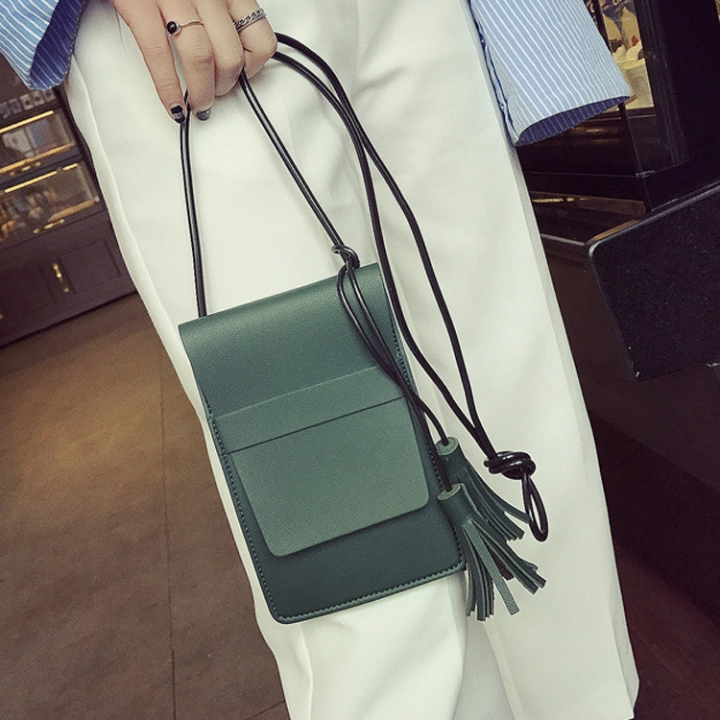The New Lady Bags Small Fresh Simple High Capacity Leisure Fashion Ms Shoulder Oblique Cross Package green one size
