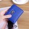 The New lovely Fresh Small wallet Bow tie zipper Coin Purse Female student Wild Hand bag blue one size