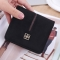 Simple The New Ms Wallet Lovely Mini Ultra Thin Multi-card Bit Fashion Small Wallet black one size