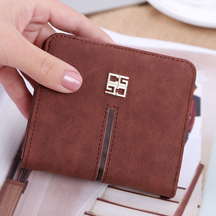 Simple The New Ms Wallet Lovely Mini Ultra Thin Multi-card Bit Fashion Small Wallet coffee one size