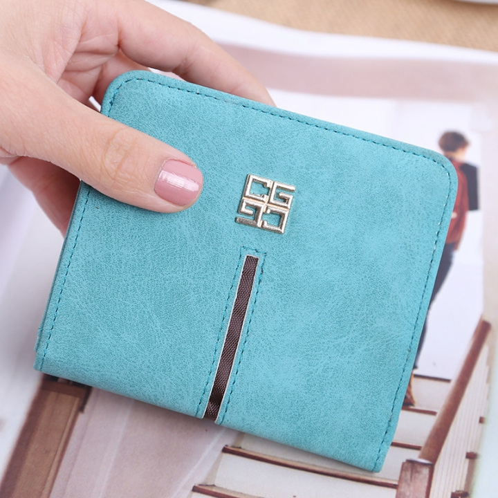 Simple The New Ms Wallet Lovely Mini Ultra Thin Multi-card Bit Fashion Small Wallet ligth green one size