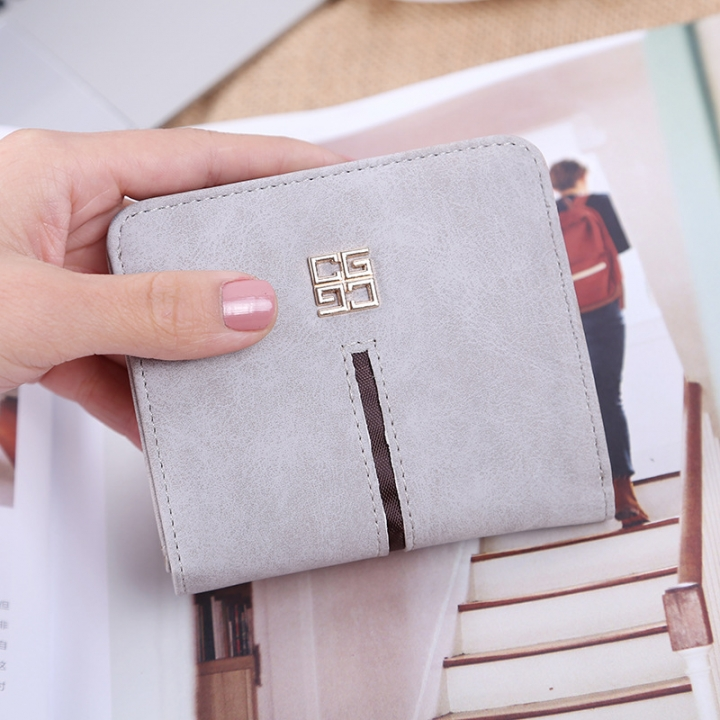 Simple The New Ms Wallet Lovely Mini Ultra Thin Multi-card Bit Fashion Small Wallet white one size