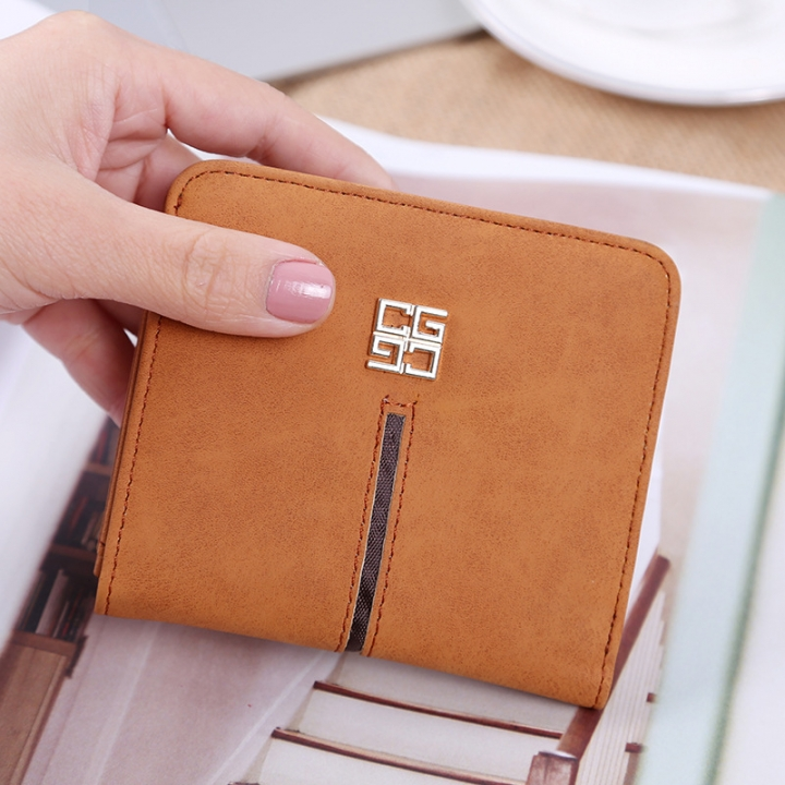 Simple The New Ms Wallet Lovely Mini Ultra Thin Multi-card Bit Fashion Small Wallet apricot one size