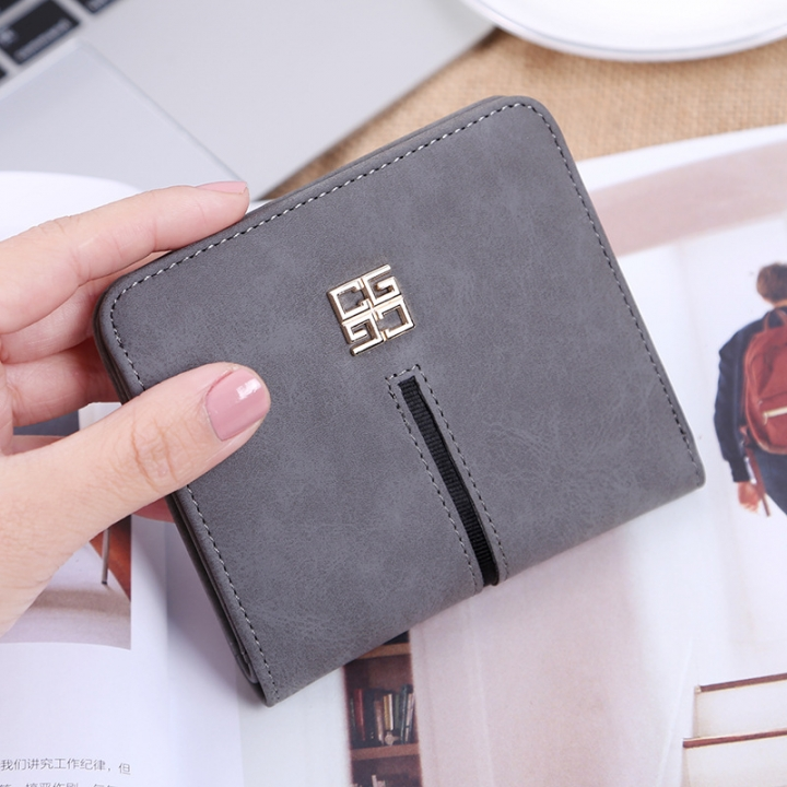 Simple The New Ms Wallet Lovely Mini Ultra Thin Multi-card Bit Fashion Small Wallet dark gray one size