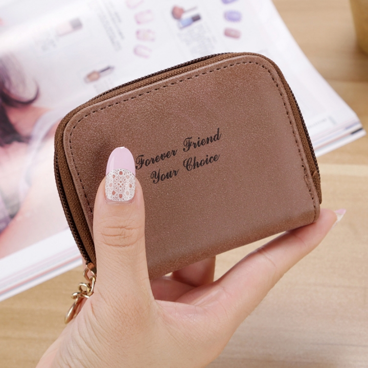 Ms wallet Short section Simple Scrub Wallet Female student fashion Coin Purse brown one size