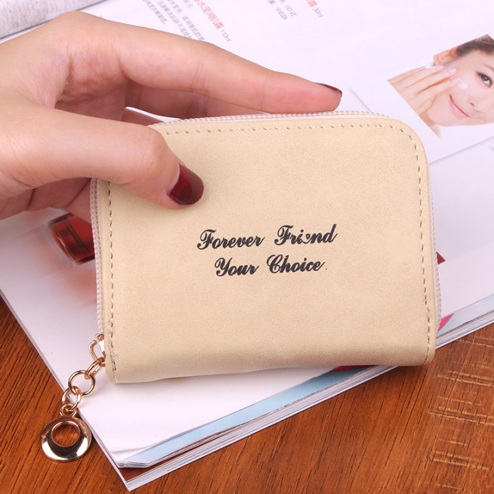 Ms wallet Short section Simple Scrub Wallet Female student fashion Coin Purse white one size