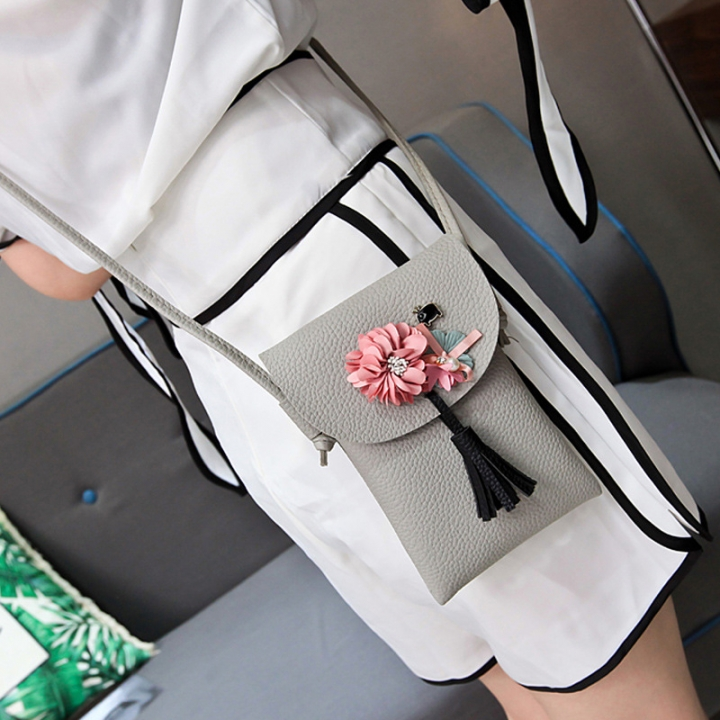 The New Lady bags Shoulder Bags Simple fashion Mobile phone bag Retro Ms Messenger bag gray one size