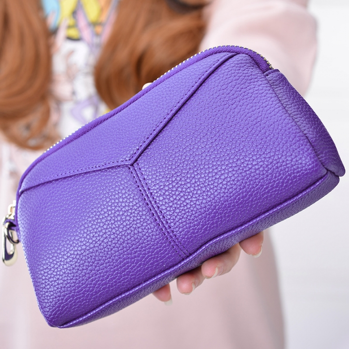 The New Ms High Capacity Hand Bag Multifunction Multi-card Bit Fashion Leisure Wallet' purple one size