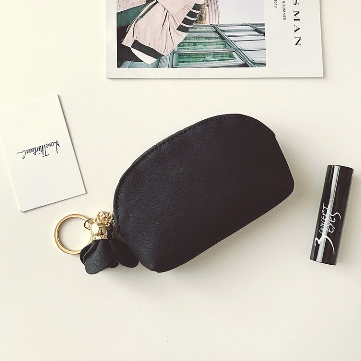 Small Wallet Female Lovely Student Coin Purse Card Pack Mini Small Fresh Coin Bag black one size