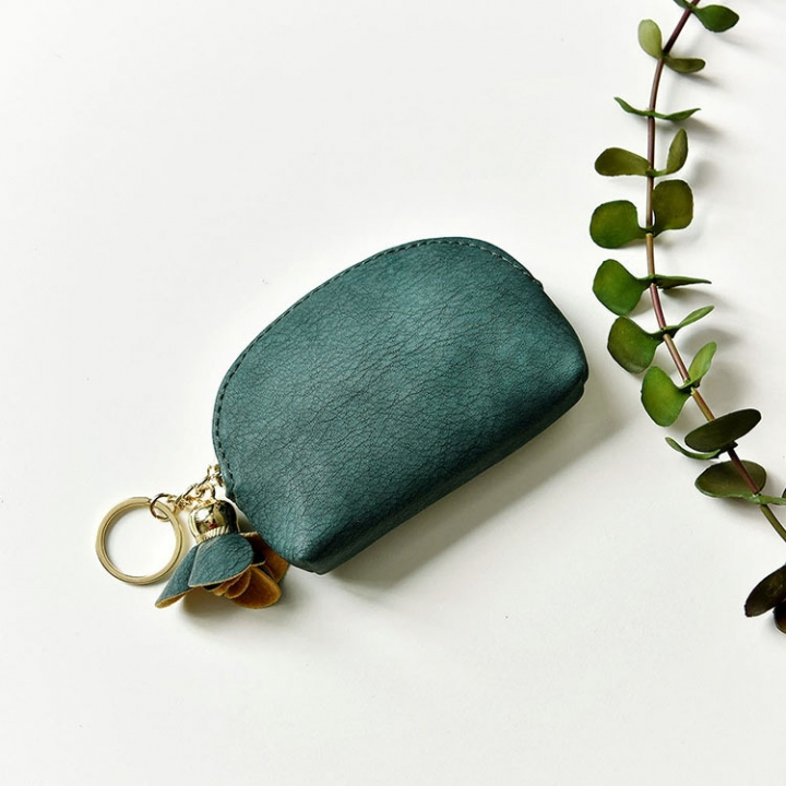 Small Wallet Female Lovely Student Coin Purse Card Pack Mini Small Fresh Coin Bag green one size