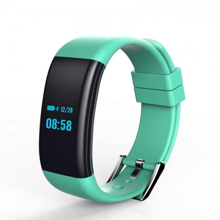 Intelligent Wristband Accurate Heart Rate Blood Pressure Blood Xxygen Movement Waterproof Wristband green one size