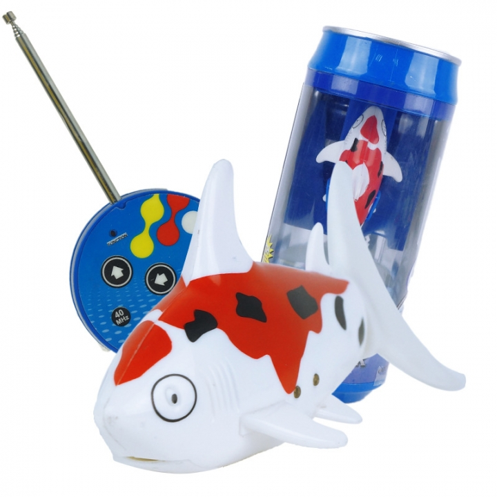 Ultra-small Charge Remote Control Fish Child Toy Magical Plastic Toy red white 10.6*4.5*5.7