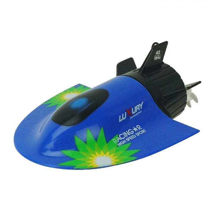 Mini submarine Toy boat model remote control submarine Plastic boat blue 11*8*4