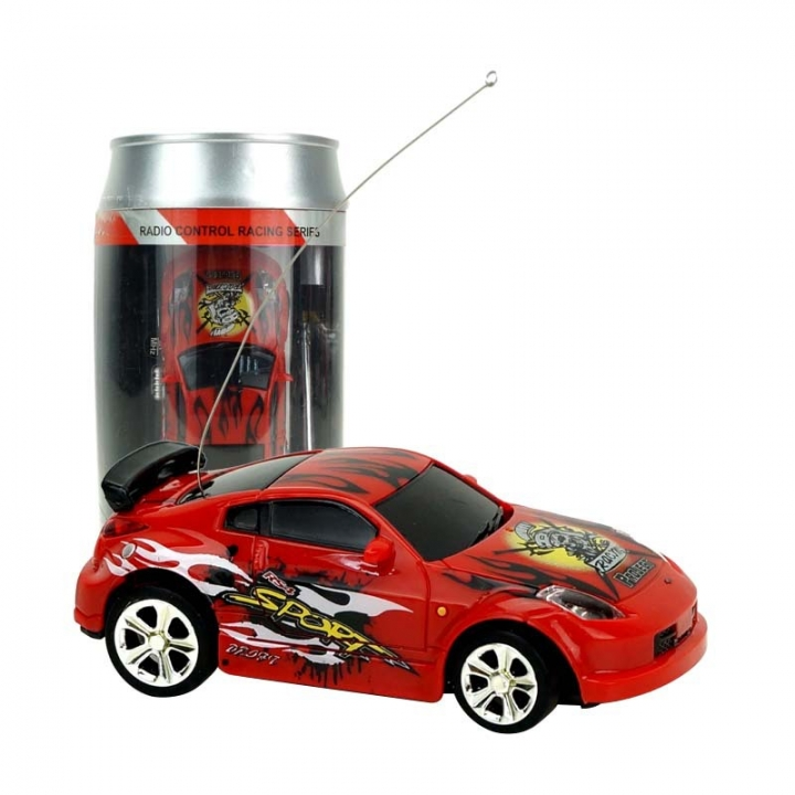 Innovation Toy Coke Cans Mini Remote Control Car Child Toy Magical Prestige Car Model red 7.5*3.3*2