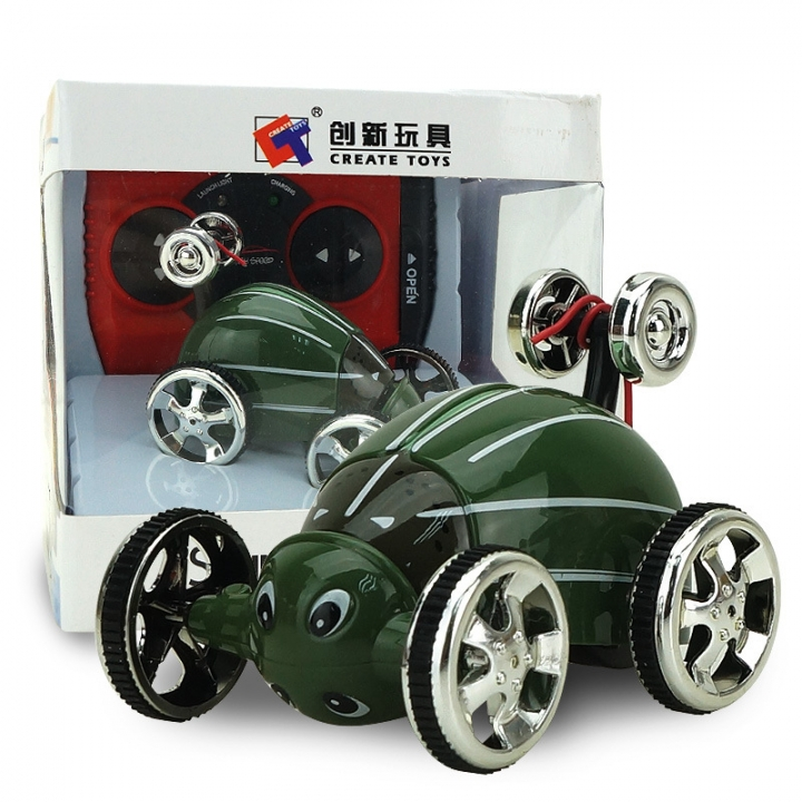 Innovation toy Mini Small insect remote control Dump truck child Magical prestige toy green 7.5*6*6