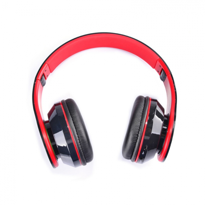 Computer Game Headset Wearing Style Subwoofer Bluetooth Stereo Headset black and red