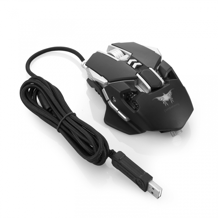 Computer Game Mouse 7 Key 4 Colors Led Cool Notebook Light Mouse black one size