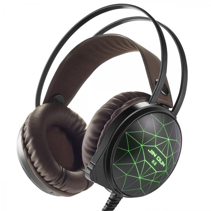 Computer Game Headphones Stereo HIFI Headset Starlight Waterproof Headset coffee