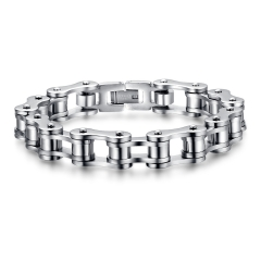 Jewelry Cycling Chain Fashion Cool Goods Men Titanium steel Bracelet silver one size
