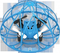 Four - axis aircraft Six axes remote control Gyro UFO UFO Model aircraft UAV toy blue 13.5*9.5*9.5 cm