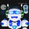 intelligent remote control robot toy dancing dialogue tell a story child gift white 21.5*12.5*33cm
