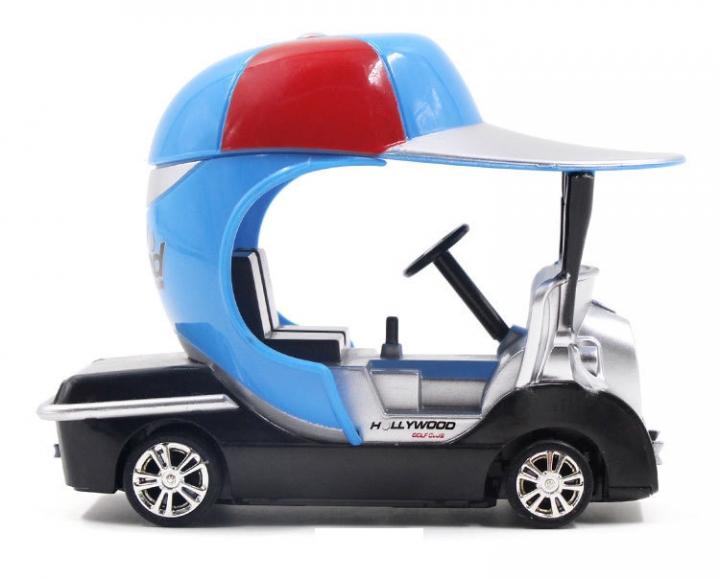 Mini Golf Remote Control Racing Car Unique Modeling Fine Printing Child Toy blue 9.5*6.1*7.2 CM