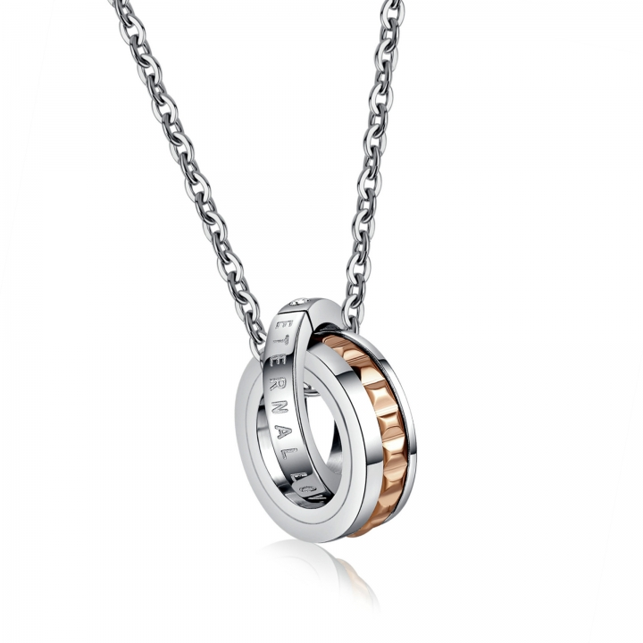 Valentine's Day Gift Accessories Titanium Steel Couple Necklace Do Not Fade gold ms one size
