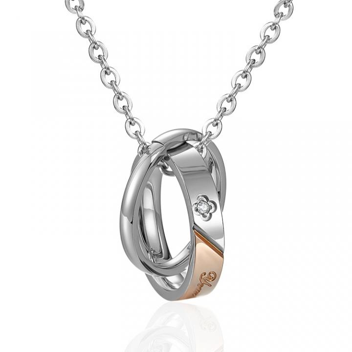 Fashion Fine Necklace Titanium Steel Couple Trend Necklace gold ms one size