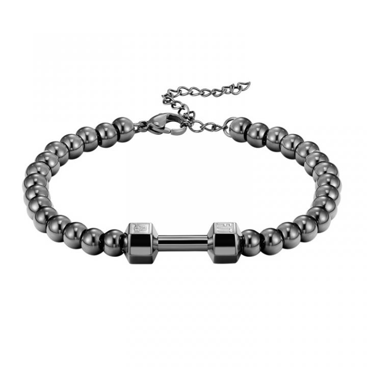 The New Fashion Accessories Jewelry Dumbbells Couple Bracelet Couple Titanium Steel Bracelet black ms