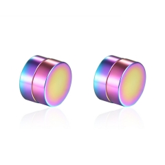 Men Titanium Steel No Ear Hole Magnet Ear Clip Earrings Fashion Wild Tide Men Jewelry color one size one size