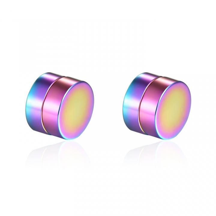 Men Titanium Steel No Ear Hole Magnet Ear Clip Earrings Fashion Wild Tide Men Jewelry color one size