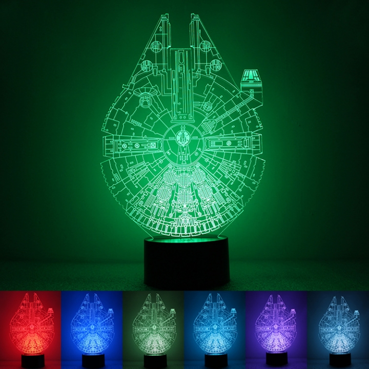 Star Wars 3D Creativity USB Powered by Colorful Night Light Home Bedroom colorful light 280*180*88MM 1.5w