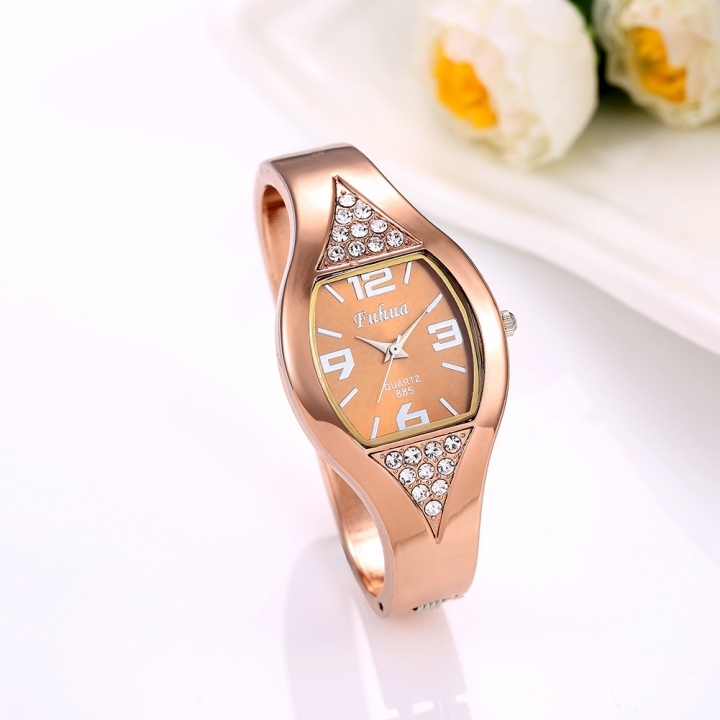 Ms Watch Creative Ms Fashion Upscale Leisure Quartz Watch rose gold