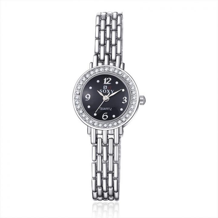 Ms Alloy Bracelet Fashion Watch Upscale Fashion Simple Quartz Watches black