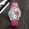 Creative KT Cat Diamond Ms Belt Watch Fashion Female Models Quartz Watches pink