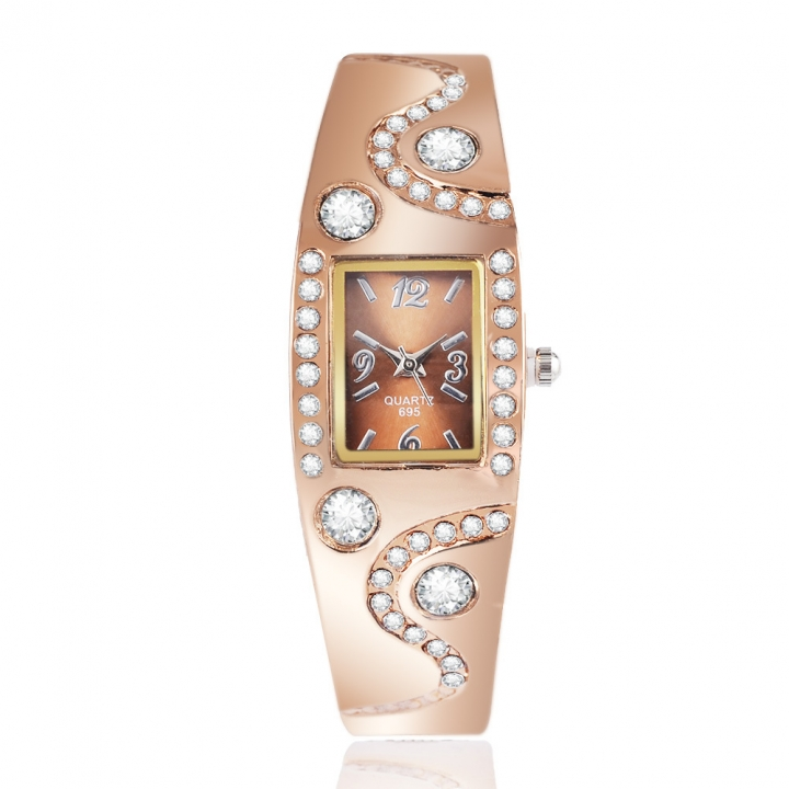 Ms Alloy Bracelet Watch Fashion Creative Fashion Quartz Watch rose gold