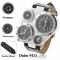 Men Belt Watch Male Multifunction Dual  Movement Waterproof Watch black men