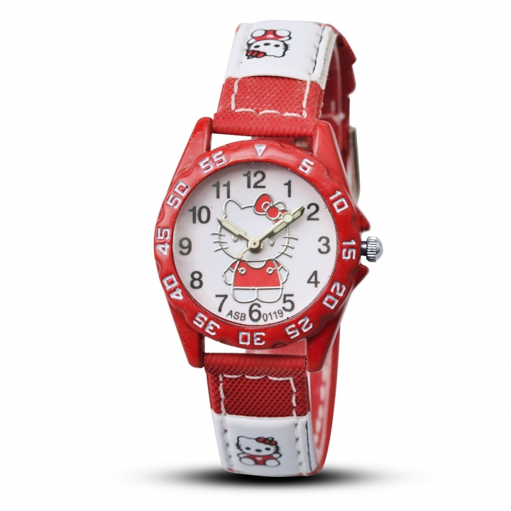 Kaidi Anchor Girl Digital Watch Creative Quartz Watch Upscale Wild Student Watch red