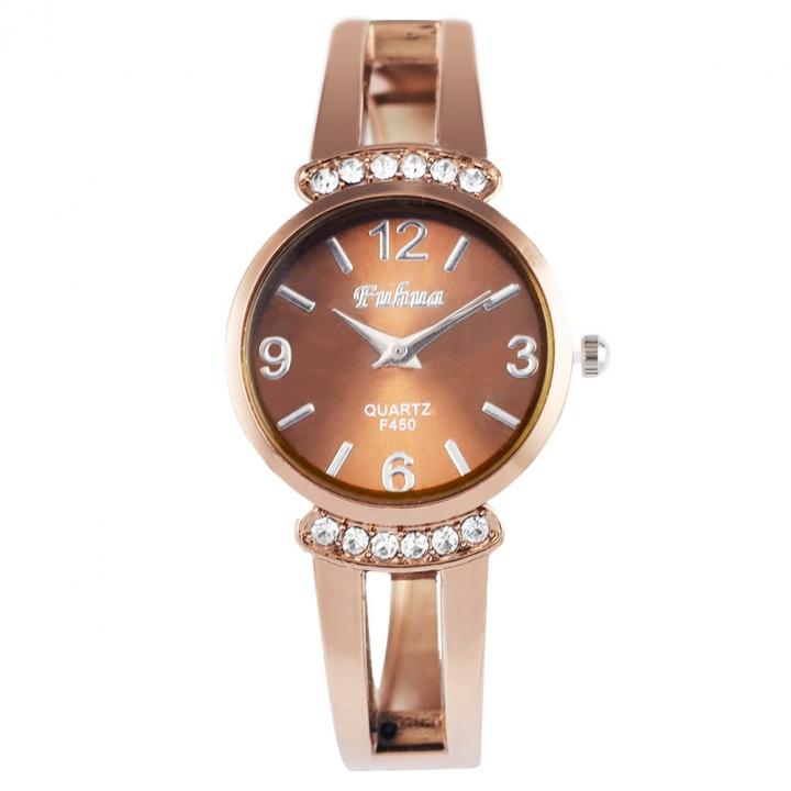 Fashion Rose Gold Diamond Quartz Watch Upscale Ms trend Watch rose gold