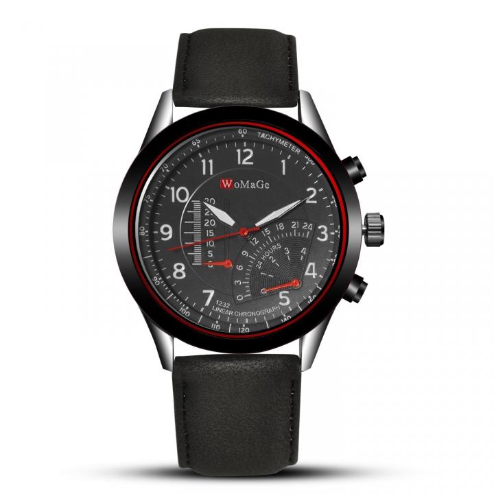 Men Upscale Belt Watch Creative Big Dial Fashion Quartz Watch black men