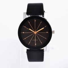 Men Belt Watch Creative Line dial Leisure Upscale Quartz Watches black men