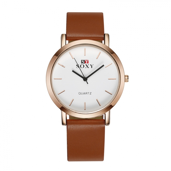 Men Belt Watch Upscale Business Fashion quartz Watch brown