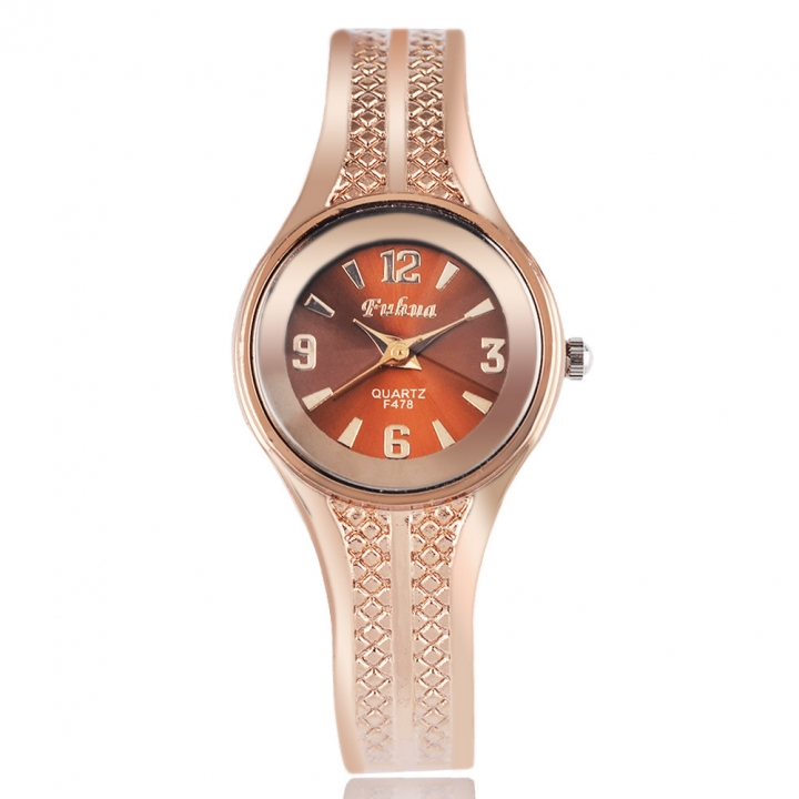 Ms Rose Gold Bracelet Watch Upscale Simple Western Style Fashion Watch rose gold