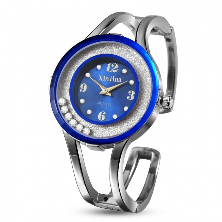 Ms Bracelet Watch Fashion Creative Student Leisure Simple Quartz Watches blue