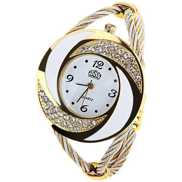 Ms Weave Watch Diamond Bracelet fashion Trend Creative Watch white