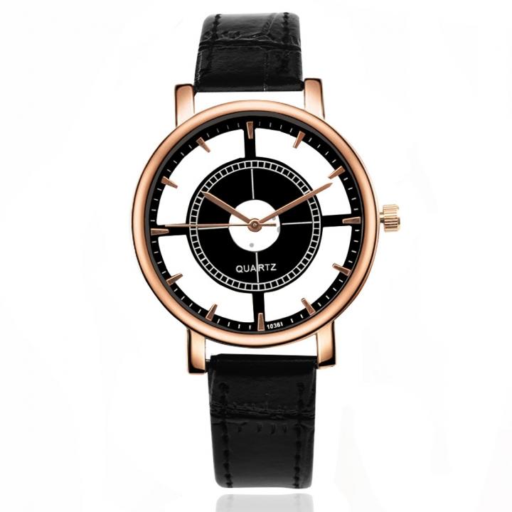 Ms Belt Watch Creative Dial Hollow Upscale Quartz trend Simple Watch black