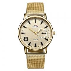 Digital Gold Ms Mesh Belt Watch Fashion Movement Quartz Watch gold