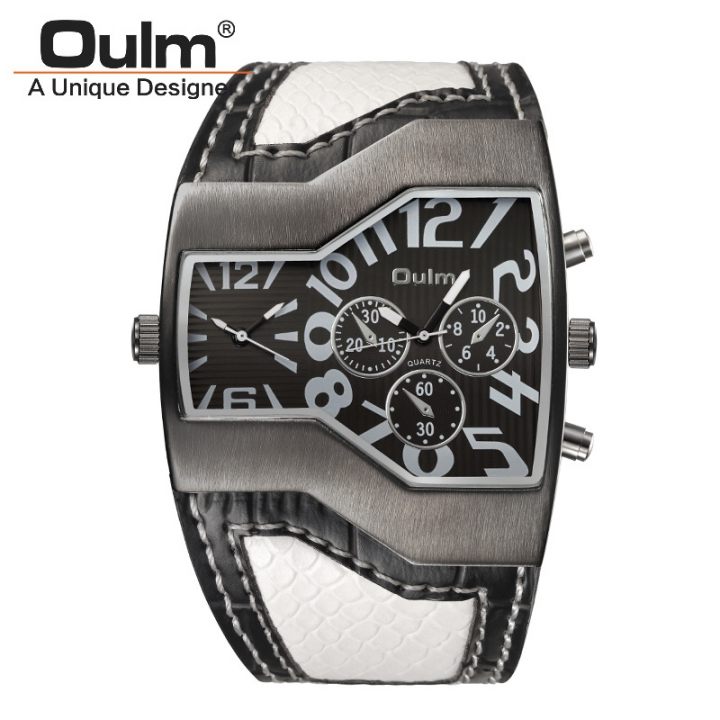 Men Business Upscale Dual Movement Quartz Watch Fashion Trend Leisure Watch white one size
